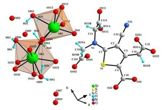 science24.com - The Crystal Structure of distrontium salt of 5 ...
